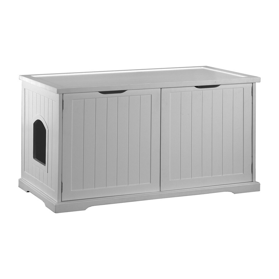 Merry Pet White Hooded Litter Box
