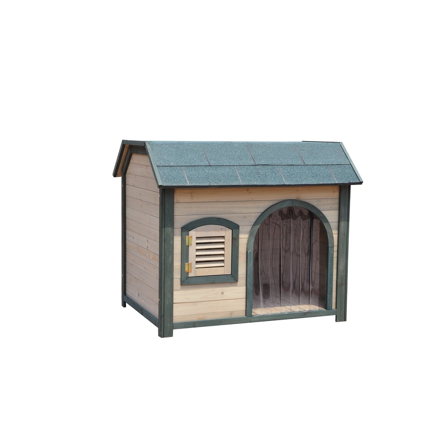 Shop merry pet 297 ft x 383 ft x 26 ft wood dog house for Dog houses sold at lowes