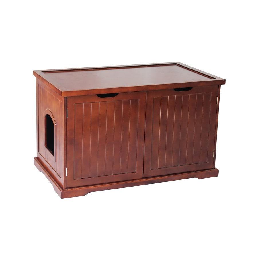 Shop Merry Pet Walnut Hooded Litter Box At Lowes Com