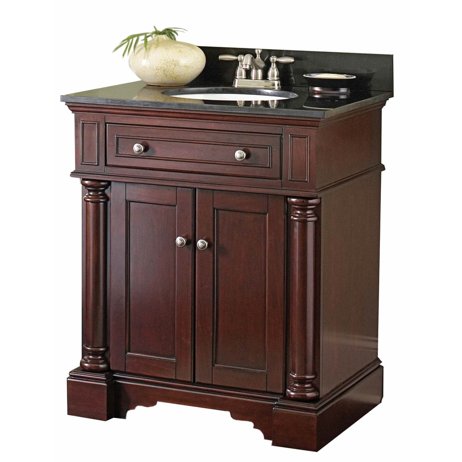 allen + roth Albain Auburn Undermount Single Sink Bathroom Vanity with Granite Top (Actual: 31-in x 22-in)