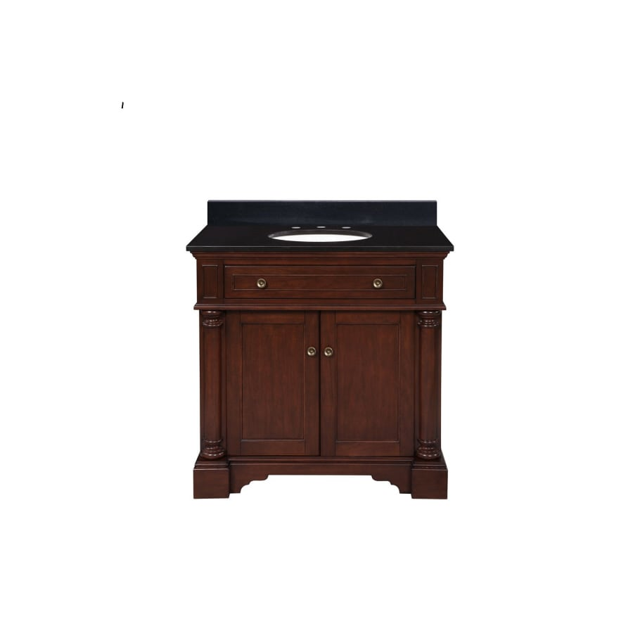 shop allen + roth auburn single sink bathroom vanity with top at