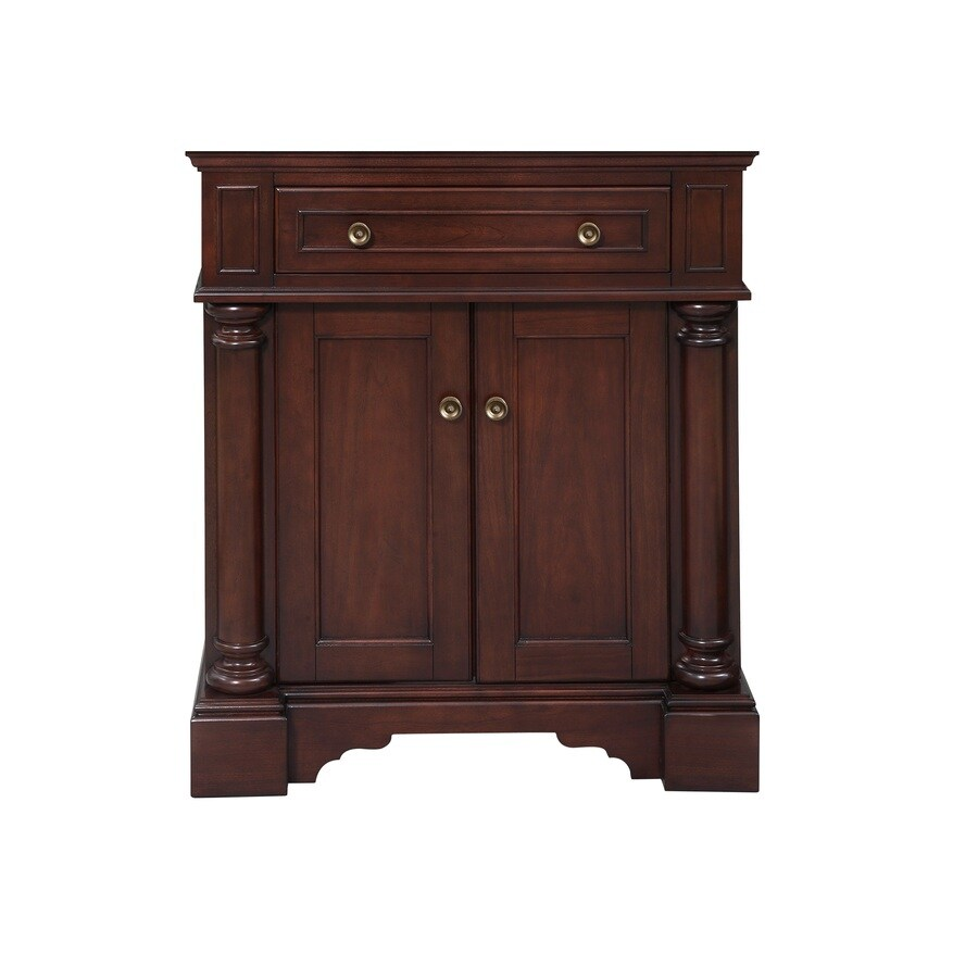 Shop Allen Roth Rosemere Auburn Bathroom Vanitymon 30 In X