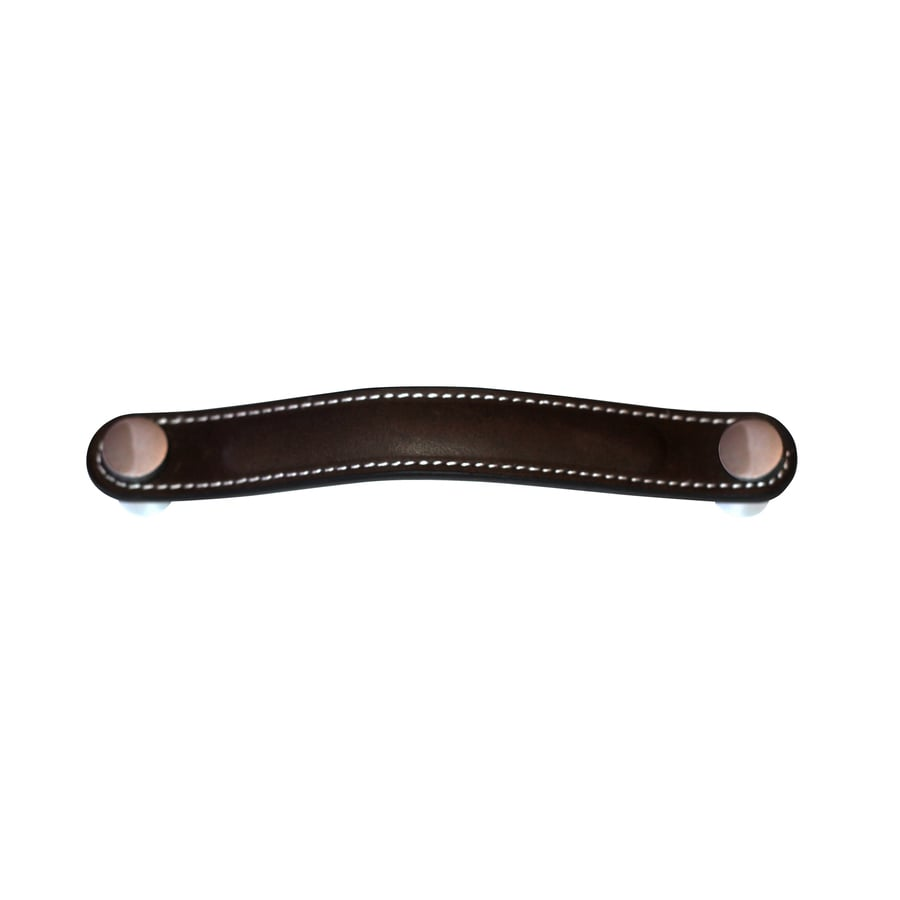 Carolina Accents 5-in Center-to-Center Brown Hutton Arched Cabinet Pull