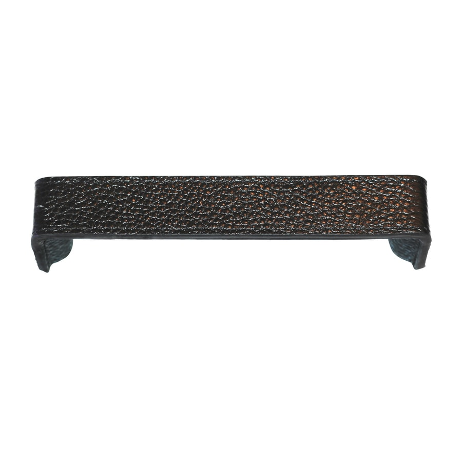 Carolina Accents 5-in Center-to-Center Black Hutton Rectangular Cabinet Pull