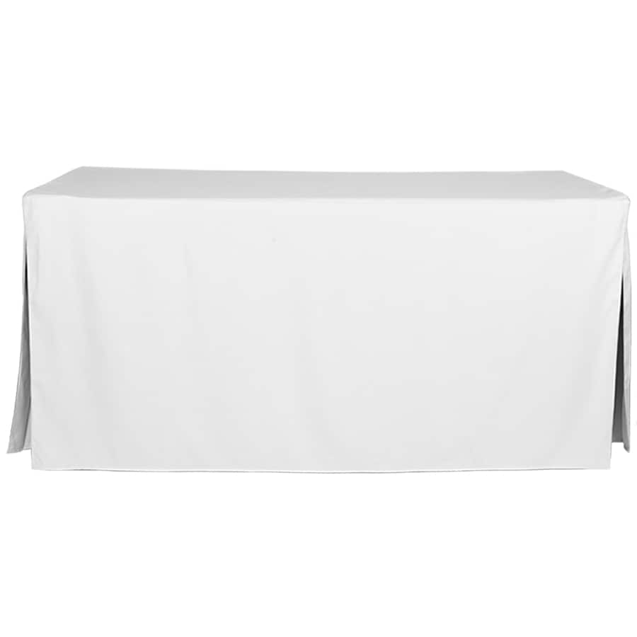 tablevogue Fitted Indoor/Outdoor White Table Cover for 6-ft Rectangle Table