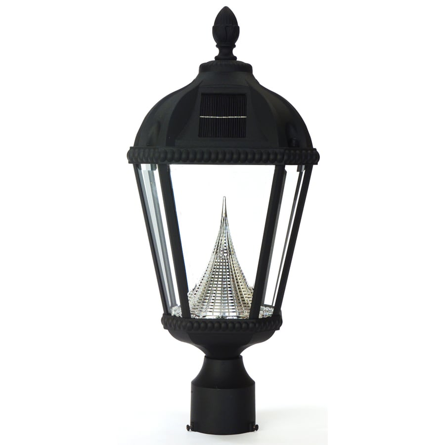 Gama Sonic Royal 18-in H Black Solar LED Post Light