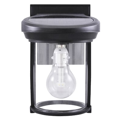 Solar Coach Light 7 5 In H Black Led Outdoor Wall