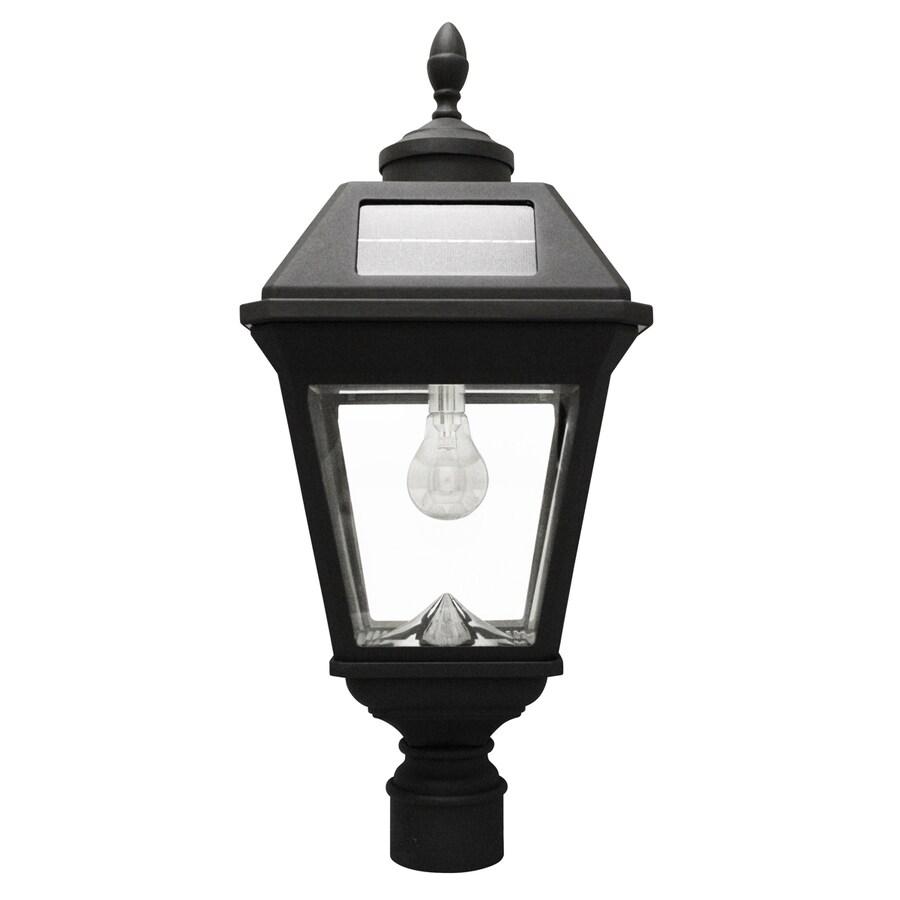 Amazon Com Gama Sonic Windsor Solar Outdoor Post Light: Gama Sonic Imperial Bulb 22.5-in H Black Solar LED Post