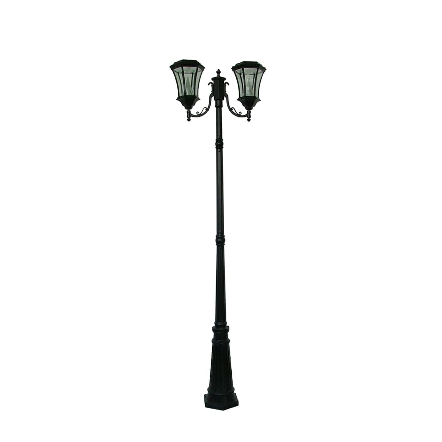 Shop Gama Sonic Victorian 90 In H Black Solar Led Complete