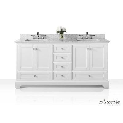 Ancerre Designs Audrey 60 In White Double Sink Bathroom Vanity