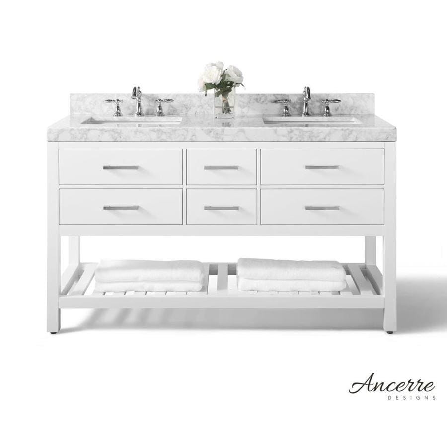 Shop Ancerre Designs Elizabeth White Undermount Double Sink