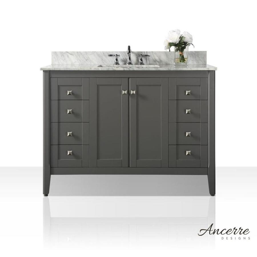 Shop Ancerre Designs Shelton Sapphire Gray Undermount Single Sink Bathroom Vanity With Natural