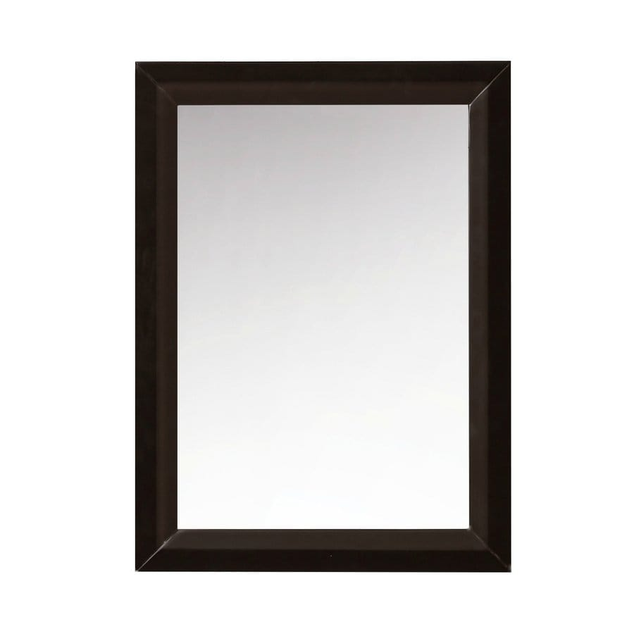 Ancerre Designs Ancerre 24-in x 31.5-in Espresso Polished Rectangle Framed French Wall Mirror