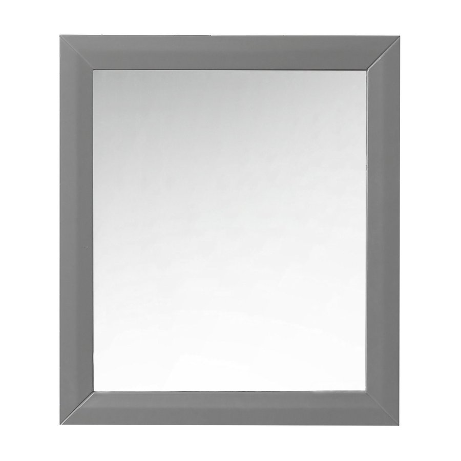 Ancerre Designs Ancerre 28-in x 31.5-in Grey Polished Rectangle Framed French Wall Mirror