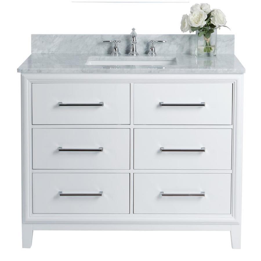 Ancerre Designs Ellie 42-in White Single Sink Bathroom ...