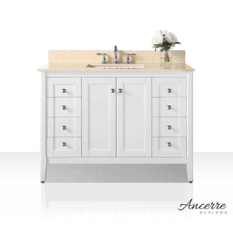 Ancerre Designs Shelton 48 In White Single Sink Bathroom