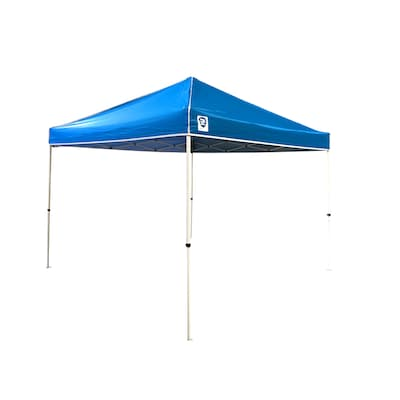 Z-Shade 10-ft L Square Blue Pop-Up Canopy