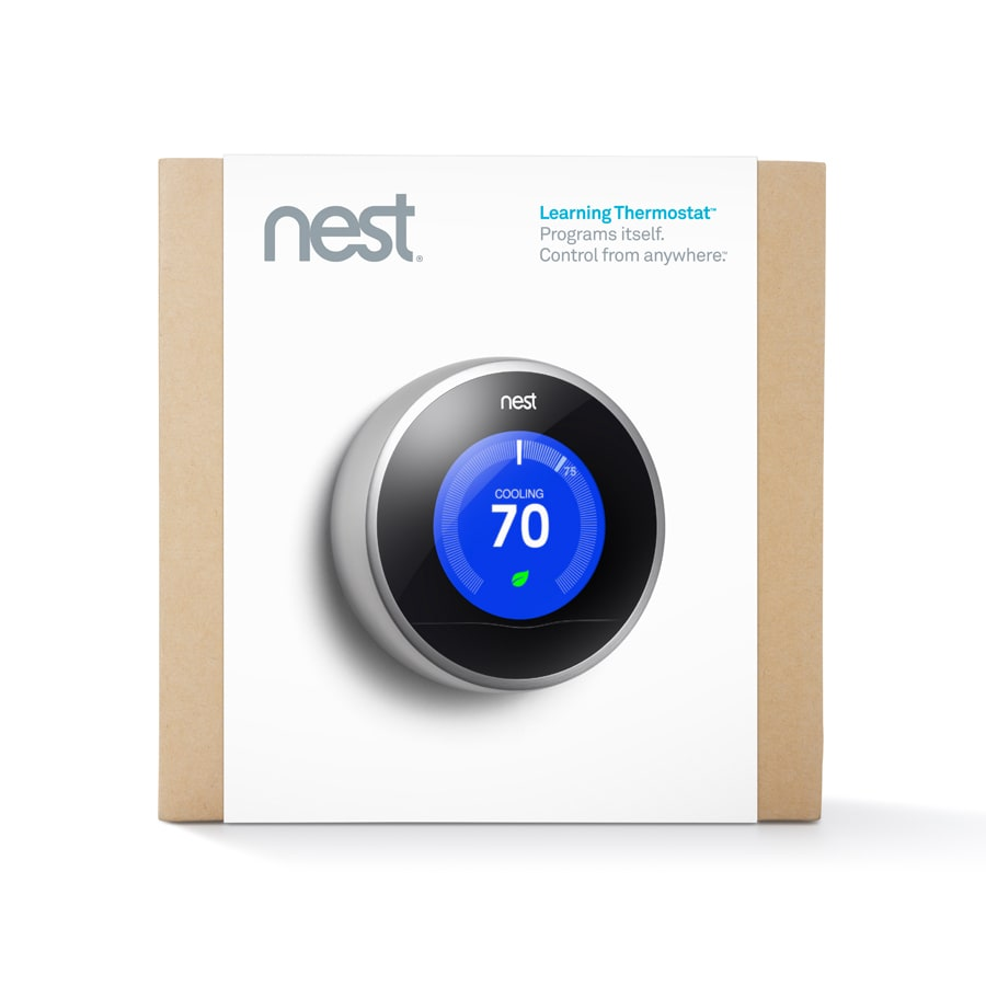 Nest Red Learning Thermostat With Built In Wifi