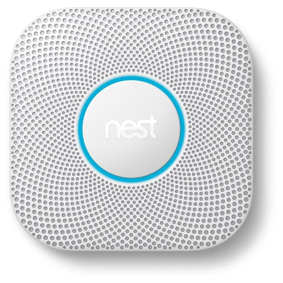 Nest 2nd Generation Battery-Powered Photoelectric Combination Smoke and Carbon Monoxide Detector with Battery Back-Up