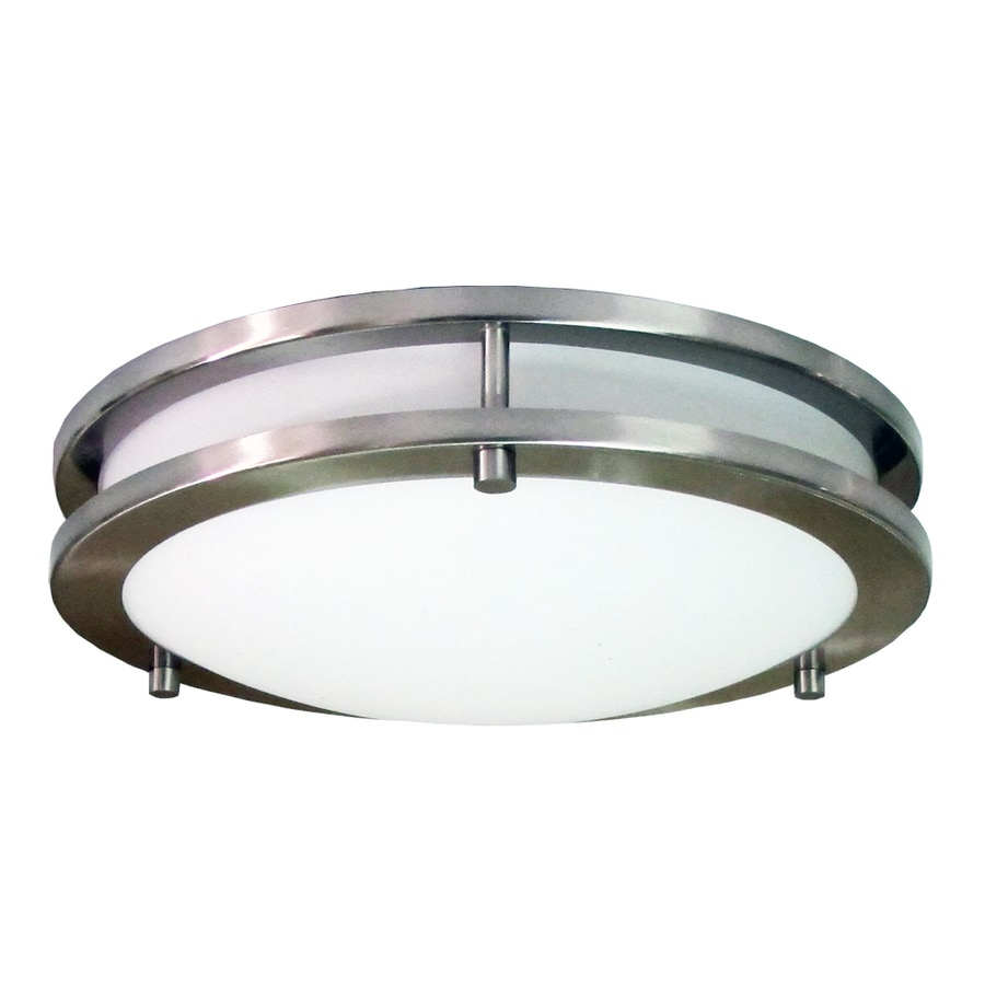 Shop elight saturn 12 in w brushed nickel flush mount light energy elight saturn 12 in w brushed nickel flush mount light energy star mozeypictures Images
