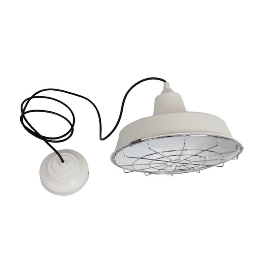 eLIGHT 12-in White Industrial Mini Bell Pendant