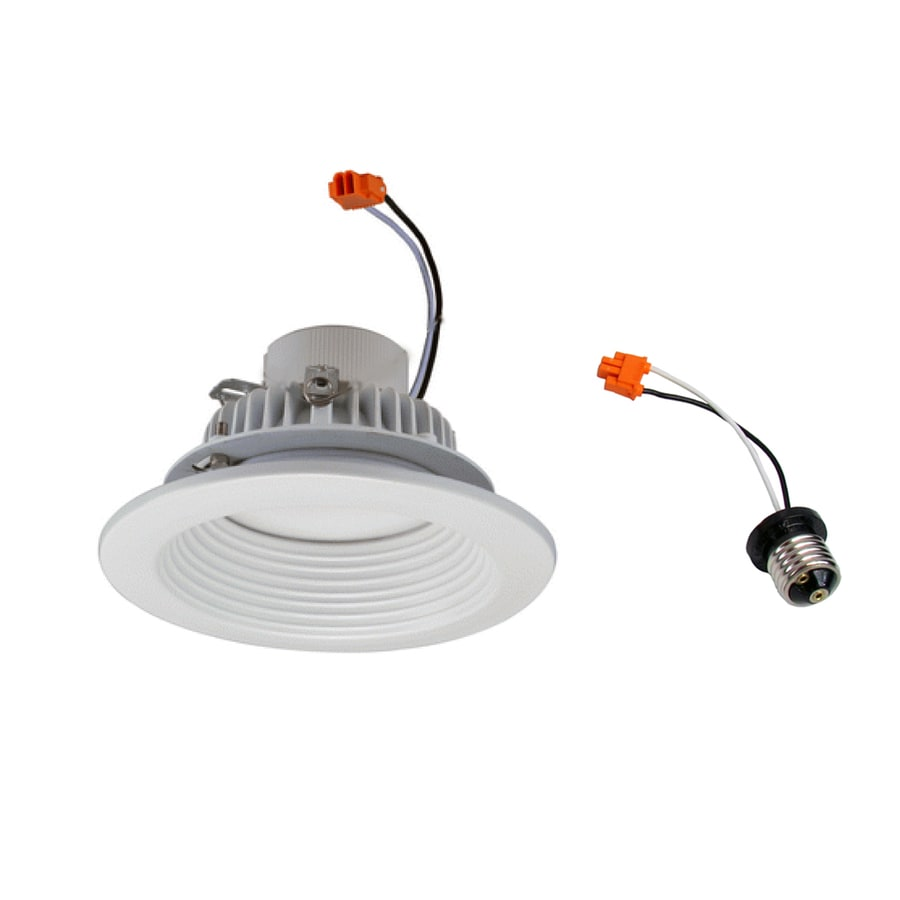 eLIGHT 45-Watt Equivalent White Aluminum Dimmable LED Recessed Retrofit Downlight (Fits Housing Diameter: 4-in)