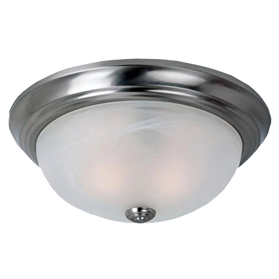 eLIGHT Essential 11.25-in W Brushed Nickel Integrated LED Flush Mount Light