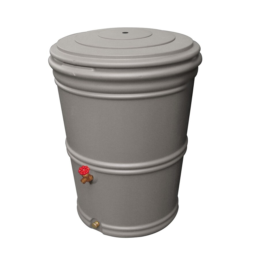 Earthminded 65 Gallon Granite Plastic Rain Barrel With Diverter