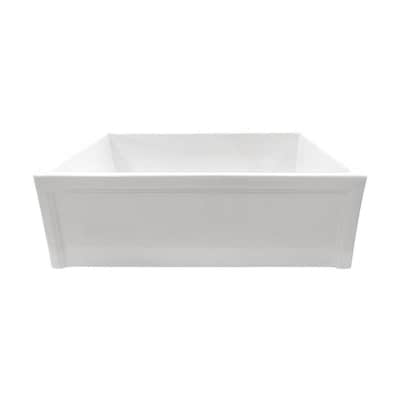 Superior Sinks 30-in x 18-in White Single Bowl Tall (8-in or ...