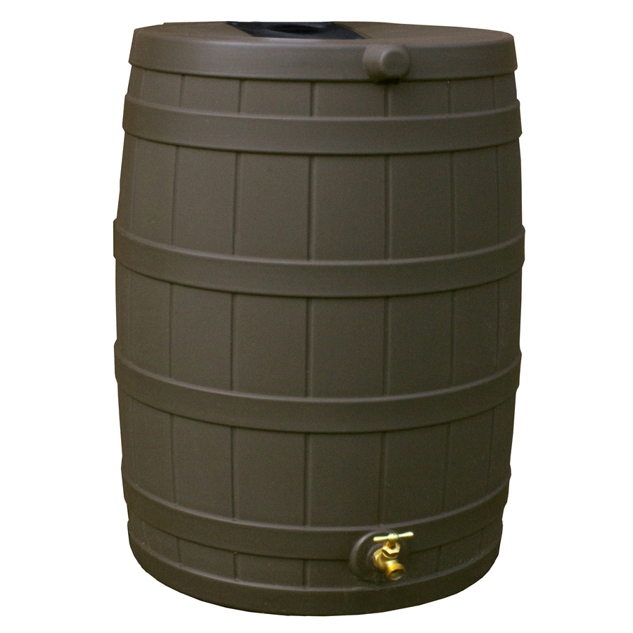 Rain Wizard 40-Gallon Oak Plastic Rain Barrel with Spigot