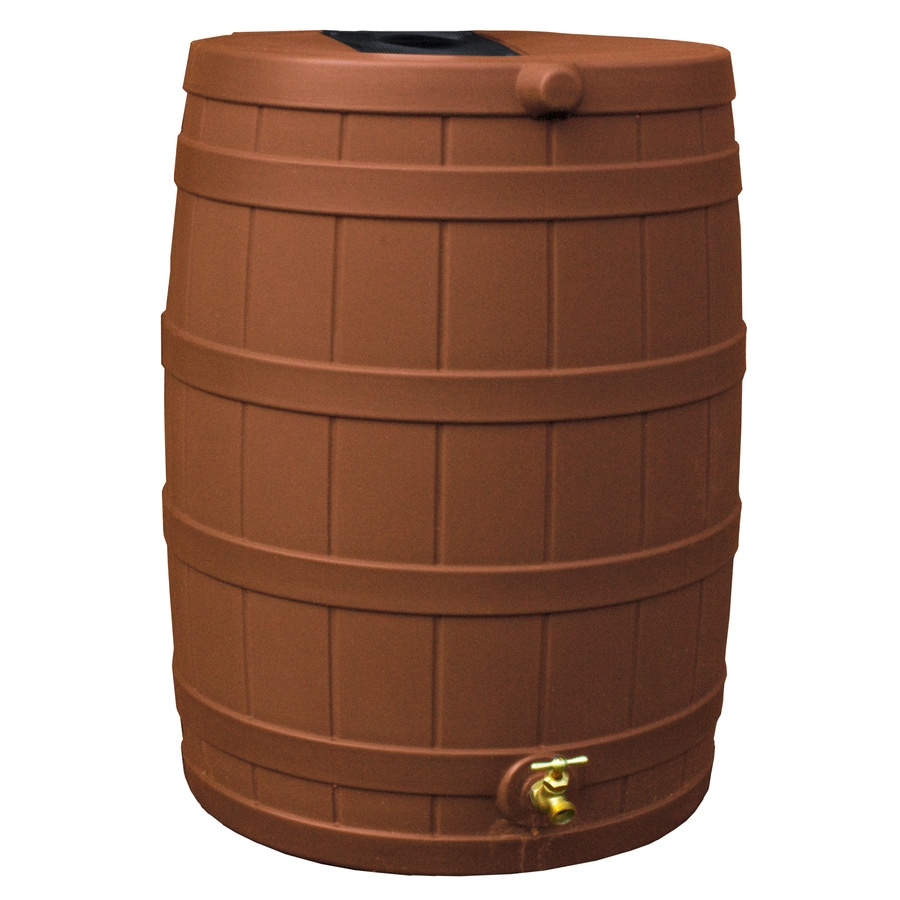 Rain Wizard 40-Gallon Terra Cotta Plastic Rain Barrel with Spigot