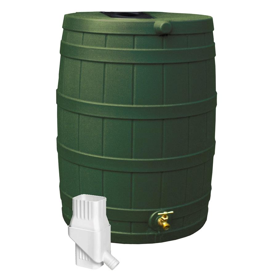 ... Gallon Green Plastic Rain Barrel with Diverter and Spigot at Lowes.com