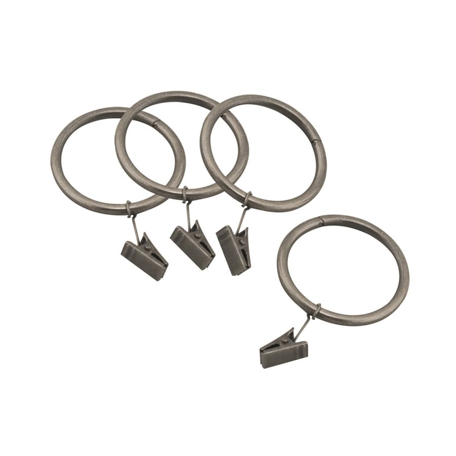 allen + roth Brushed Pewter 10-Pack 3.25-in Antique Pewter Steel Curtain Ring