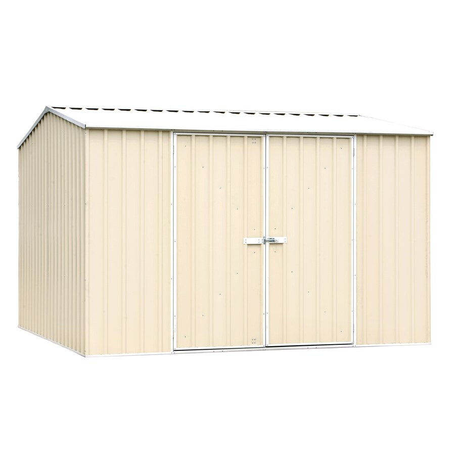 ABSCO (Common: 10-ft x 10-ft; Interior Dimensions: 9.678-ft x 9.678-ft) Premier Shed Galvanized Steel Storage Shed