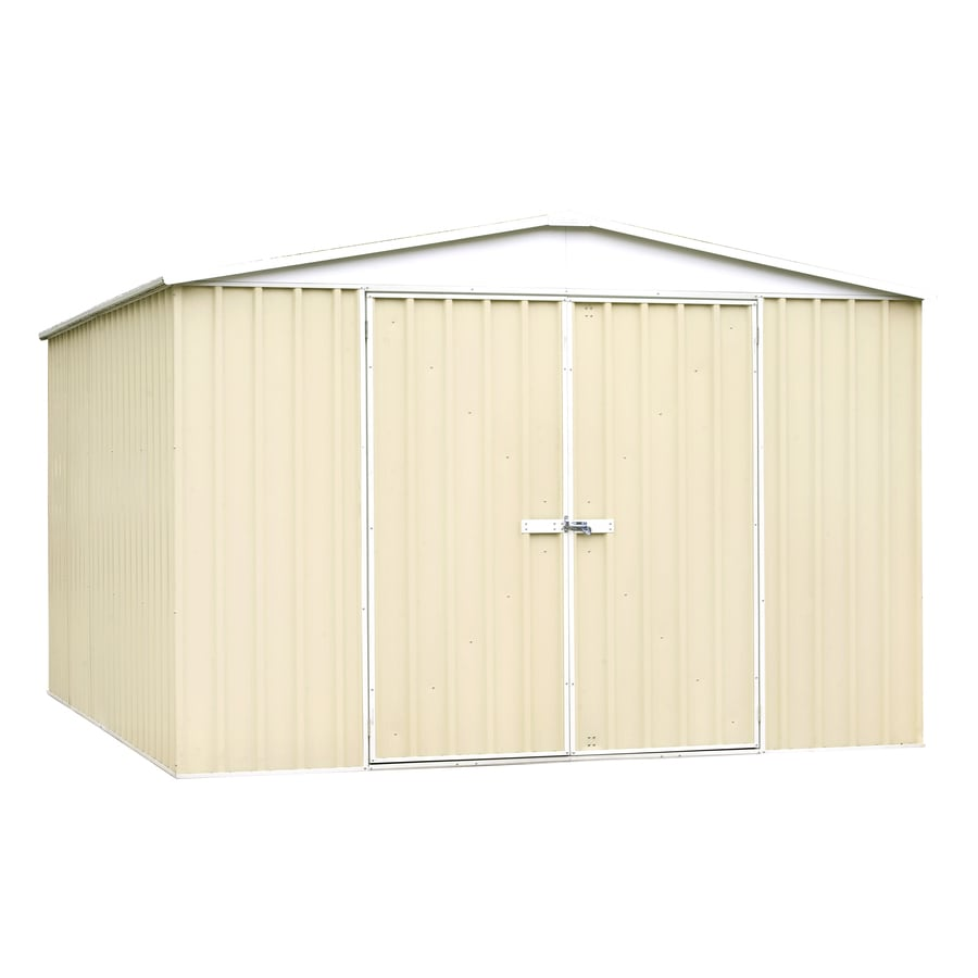 ABSCO (Common: 10-ft x 12-ft; Interior Dimensions: 9.678-ft x 11.844-ft) Regent Shed Galvanized Steel Storage Shed