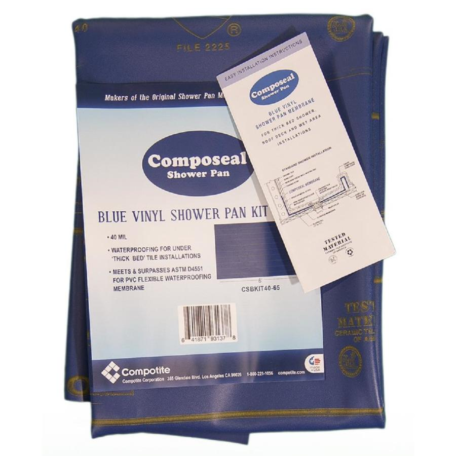 Shop Compotite Composeal Blue Solid Surface Shower Pan Liner at ...