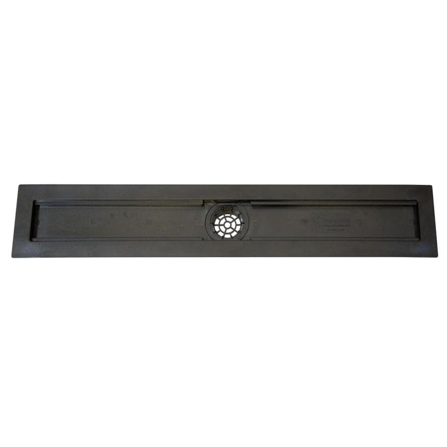 Compotite 24-in Linear Drain Body 26-in Black ABS Linear Shower Drain