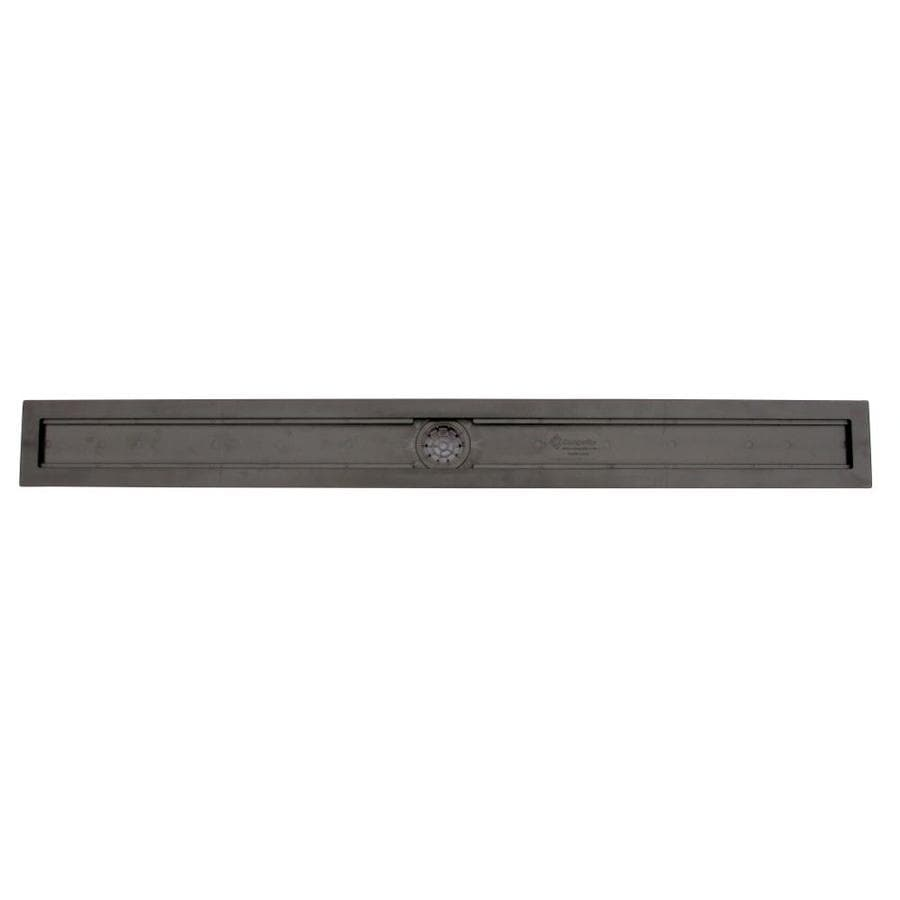 Compotite 42-in Linear Drain Body Black ABS Linear Shower Drain