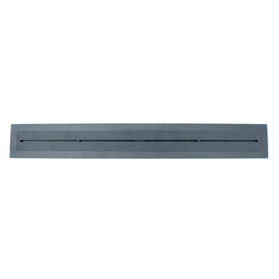 Compotite 24-in Tile-Over Top 24-in Black ABS Cover Plate