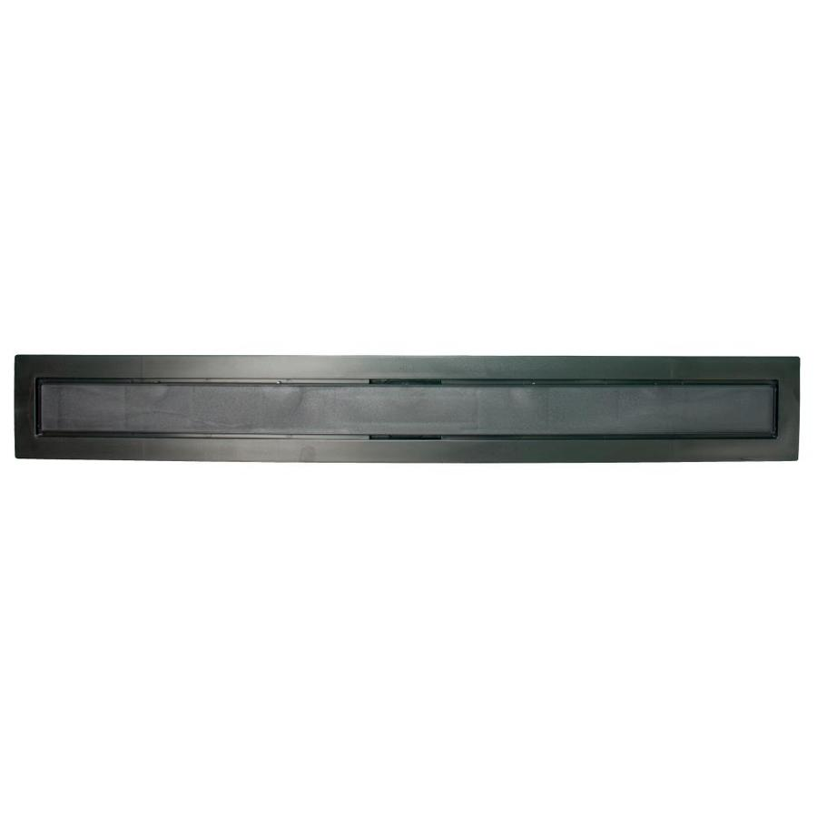 Compotite 36-in Tile-In Top 36-in Black Abs Cover Plate