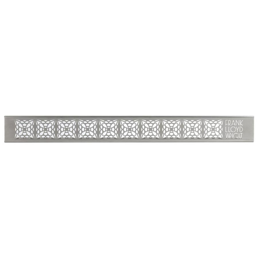 Compotite 24-in Frank Lloyd Wright Mimosa Design Stainless Steel Grate