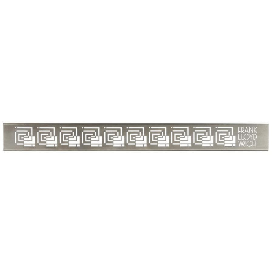 Compotite 42-in Frank Lloyd Wright Fellowship Design Stainless Steel Grate