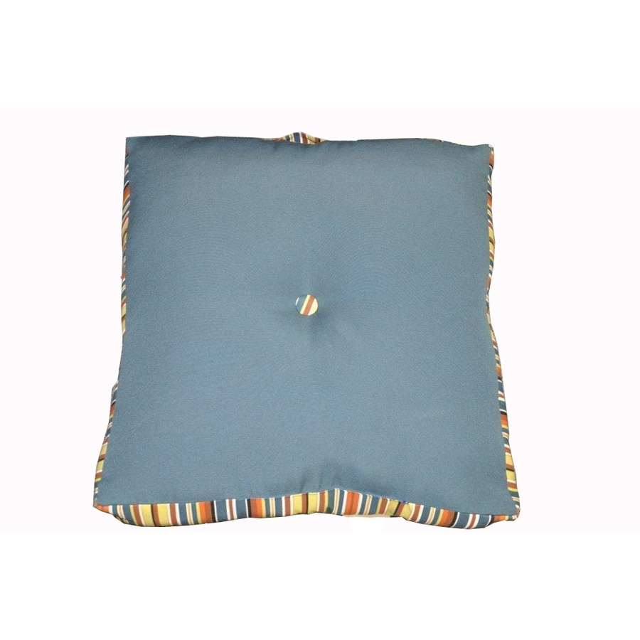 allen + roth Zig Zag Blue UV-Protected Outdoor Accent Pillow