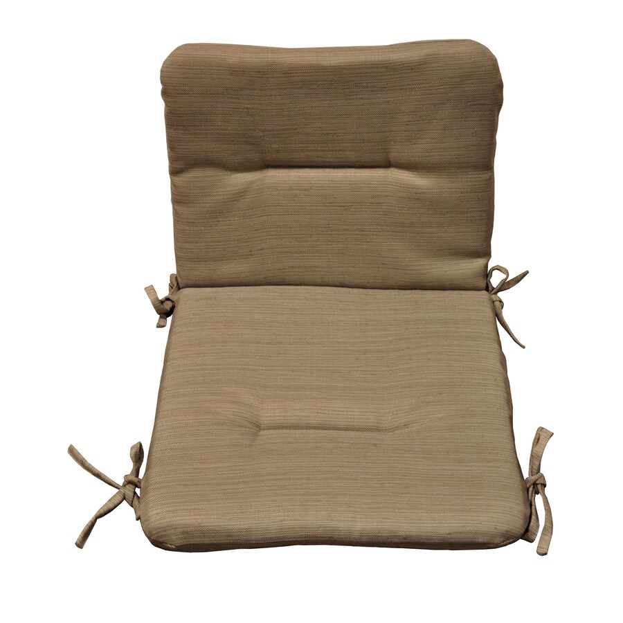 allen + roth 36.5-in L x 19.5-in W Wheat Patio Chair Cushion