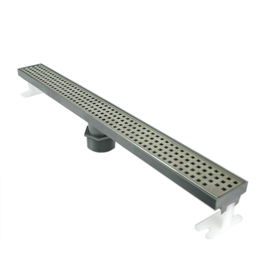 Shop Quartz By Aco Stainless Steel Plastic Floor Drain At