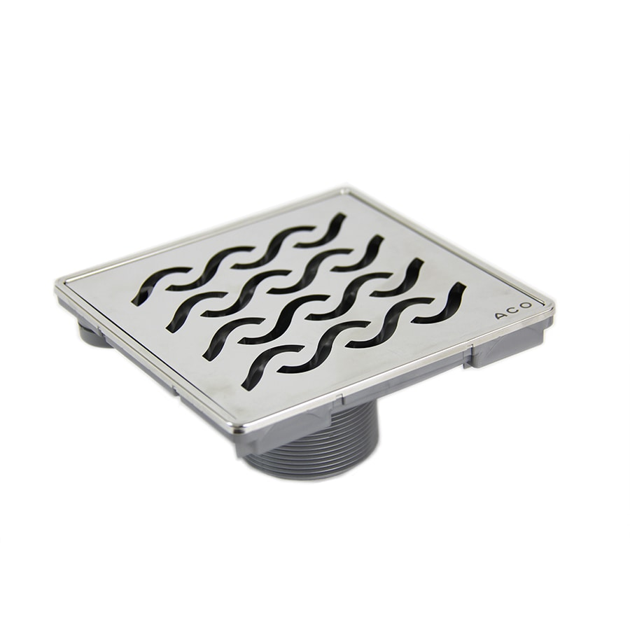 QuARTz by ACO 6-in Stainless Steel Plastic Floor Drain