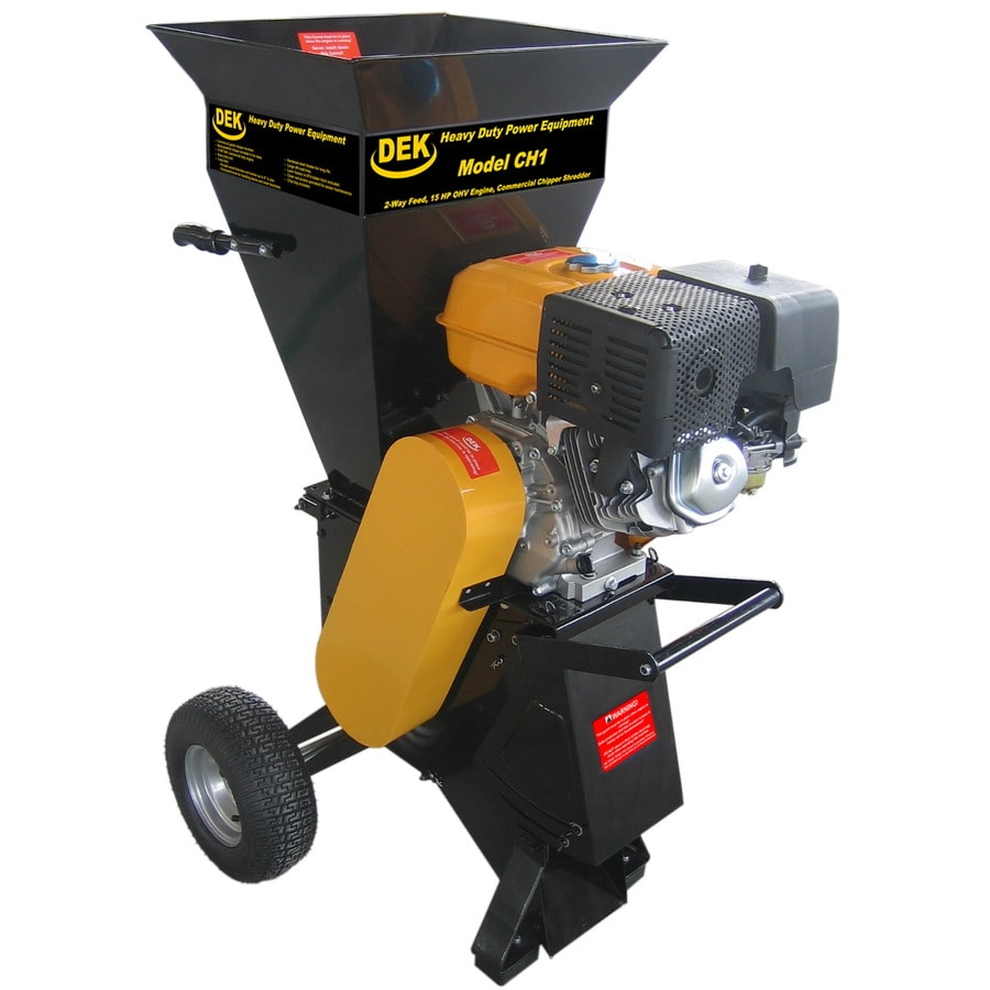 DEK Heavy Duty 420cc Chromium Gas Wood Chipper
