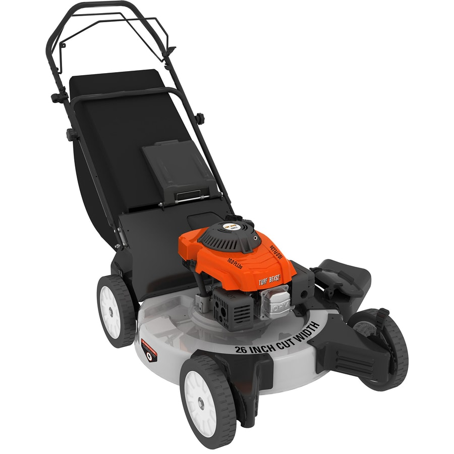 Turf Beast 208cc 26-in Self-Propelled Rear Wheel Drive Gas Lawn Mower with Mulching Capability