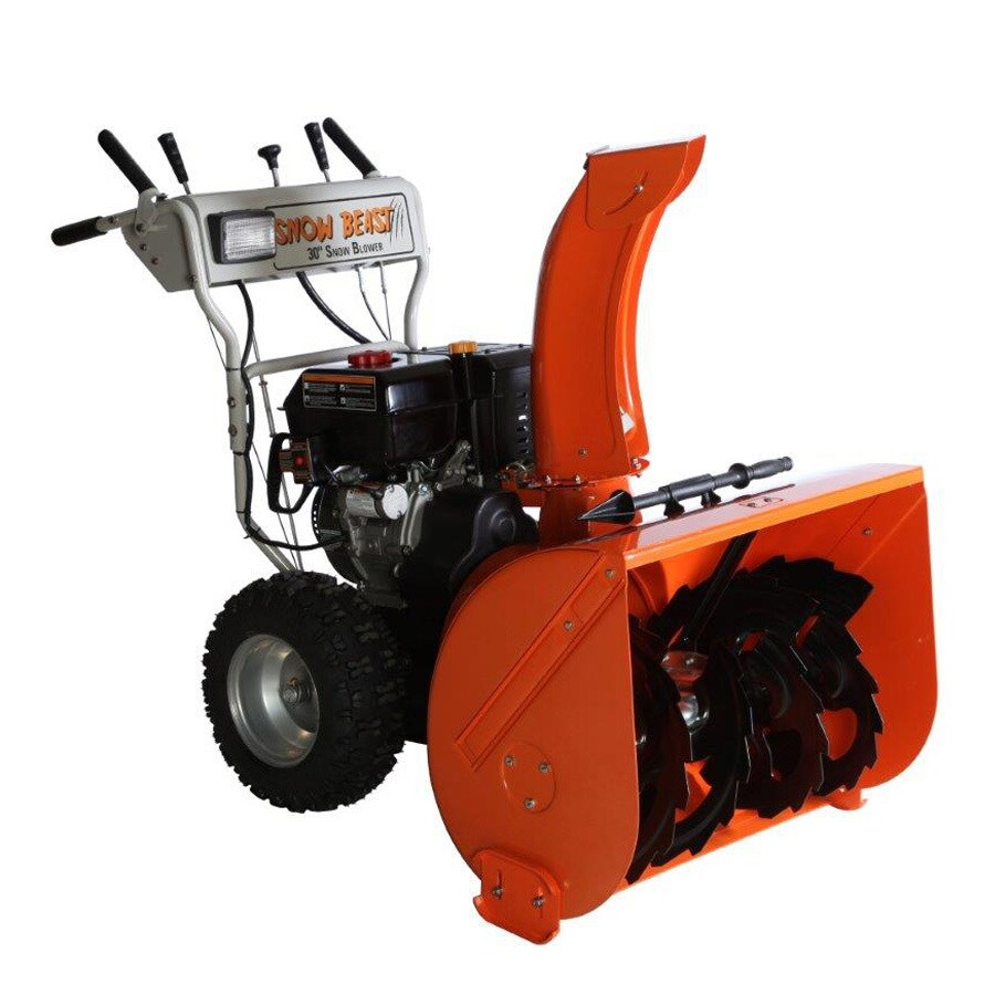 Snow Beast 30-in Two-stage Push-button Electric Start Gas Snow Blower with Headlight