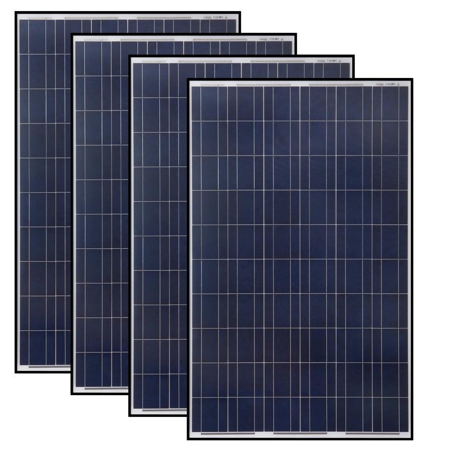 Grape Solar 4-Module 64.6-in x 39.1-in 1060-Watt Solar Panel